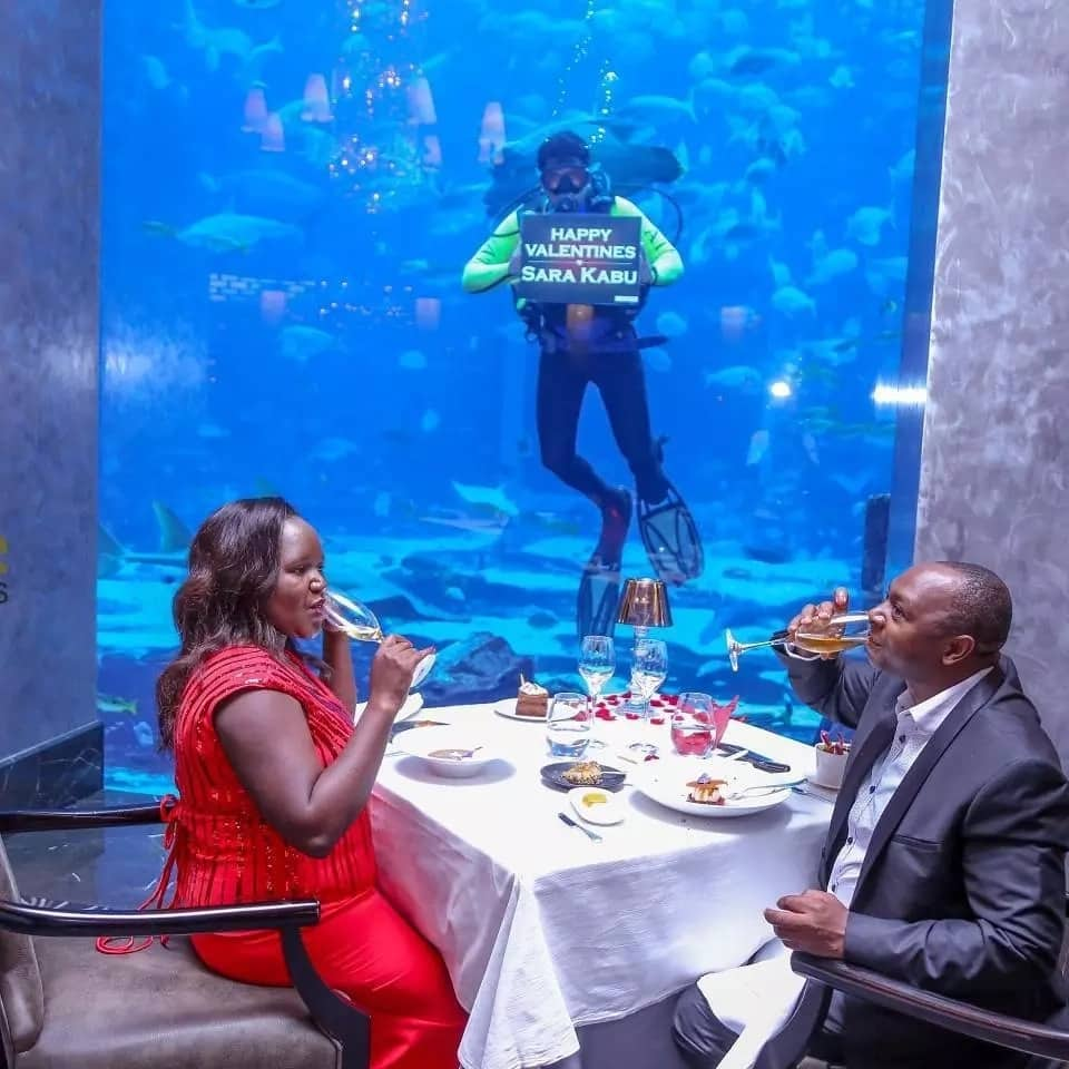 City tycoon who gifted wife a Range Rover on her birthday, celebrates their love under the sea