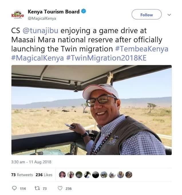 Wakenya wakejeli ujumbe wa shirika la Majical Kenya kuhusiana na uzinduzi wa Balala wa uhamaji wa nyumbu