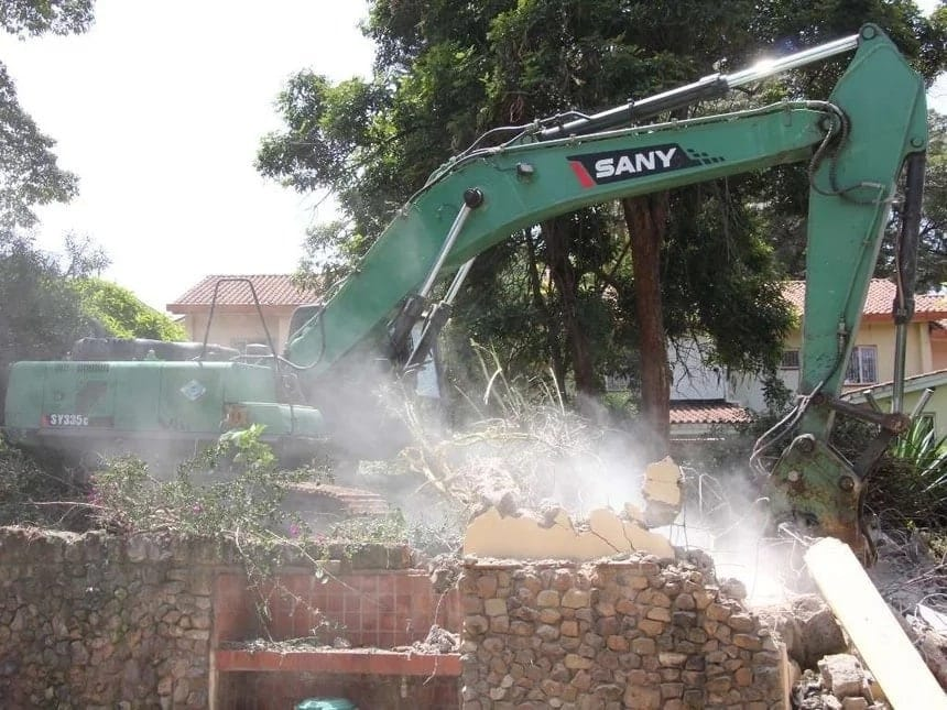 NEMA demolitions inNairobi Buildings marked for NEMA demolitions Demolitions in Nairobi pictures Building demolitions in Nairobi