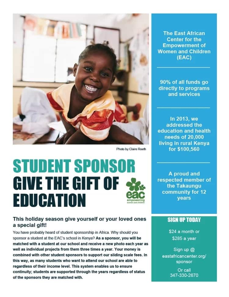 education sponsors in Kenya