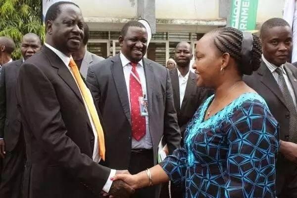 Waiguru meet Raila ahead of Devolution conference in Kakamega