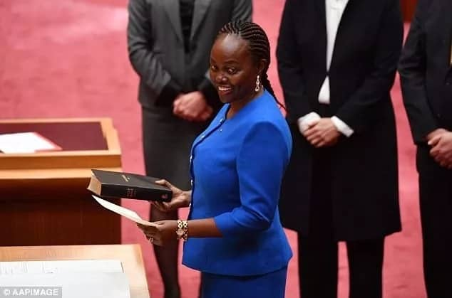Kenyan-born Lucy Gichuhi takes her oath of office