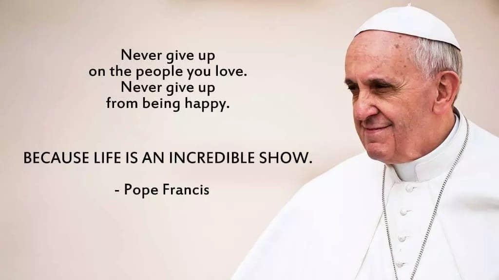 Best Pope Francis quotes on love