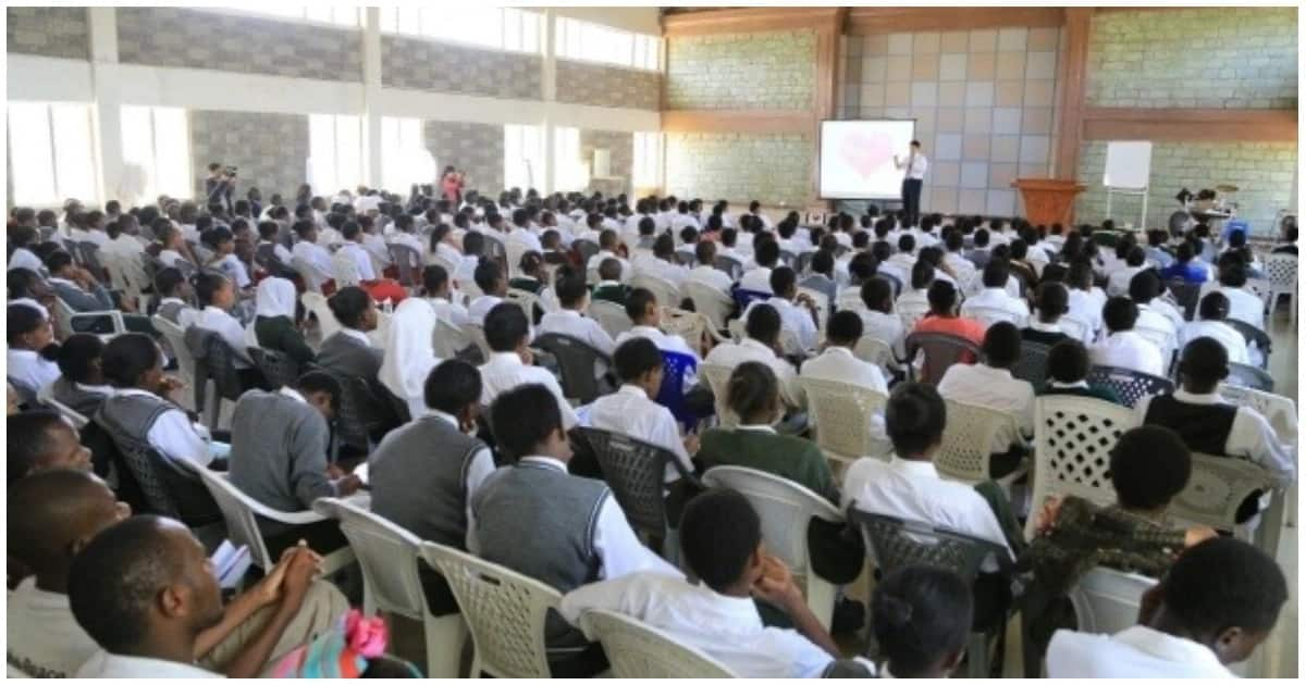Students attending a Church session.