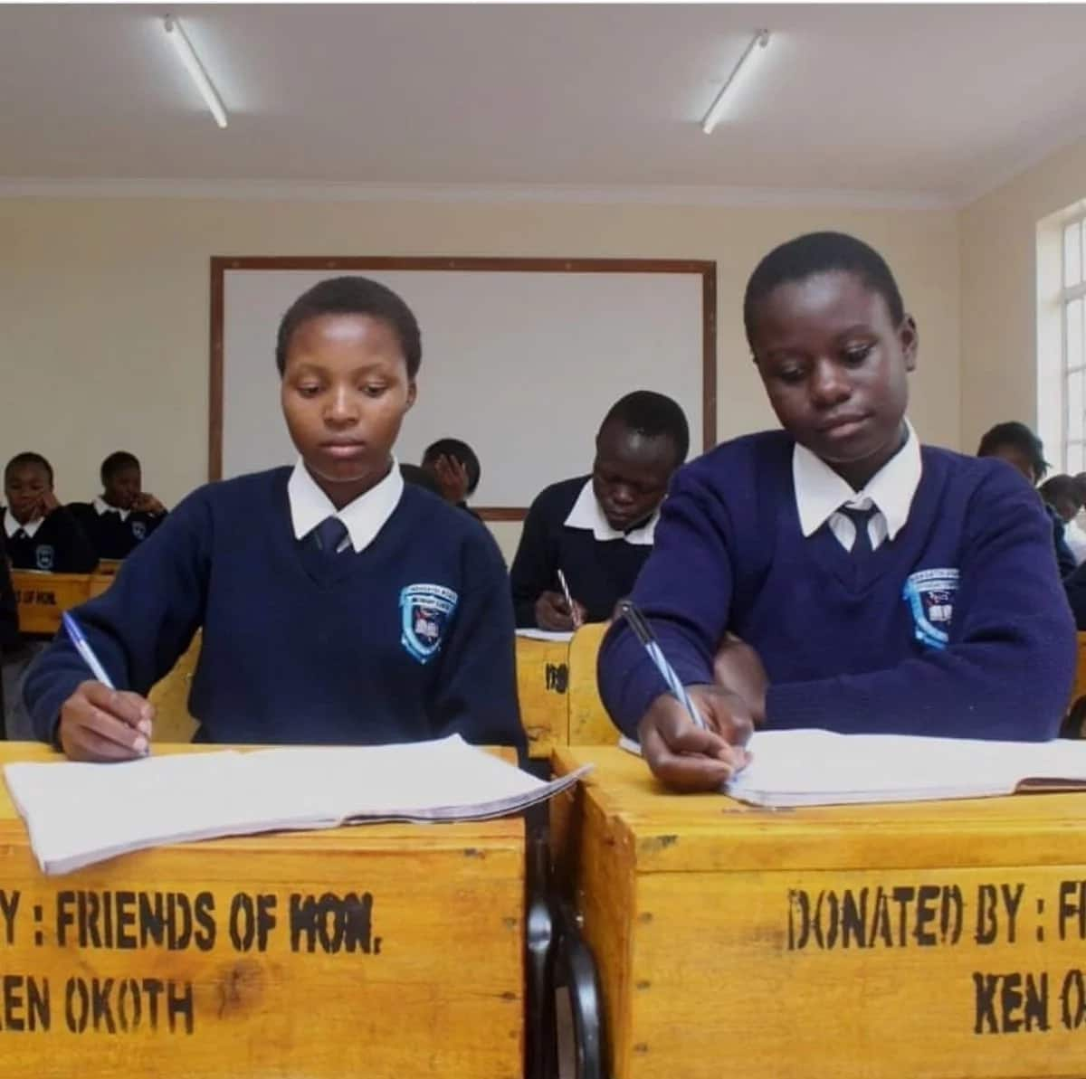 Kibra MP warms Kenyan hearts yet again by donating desks, chairs to school on his 40th birthday