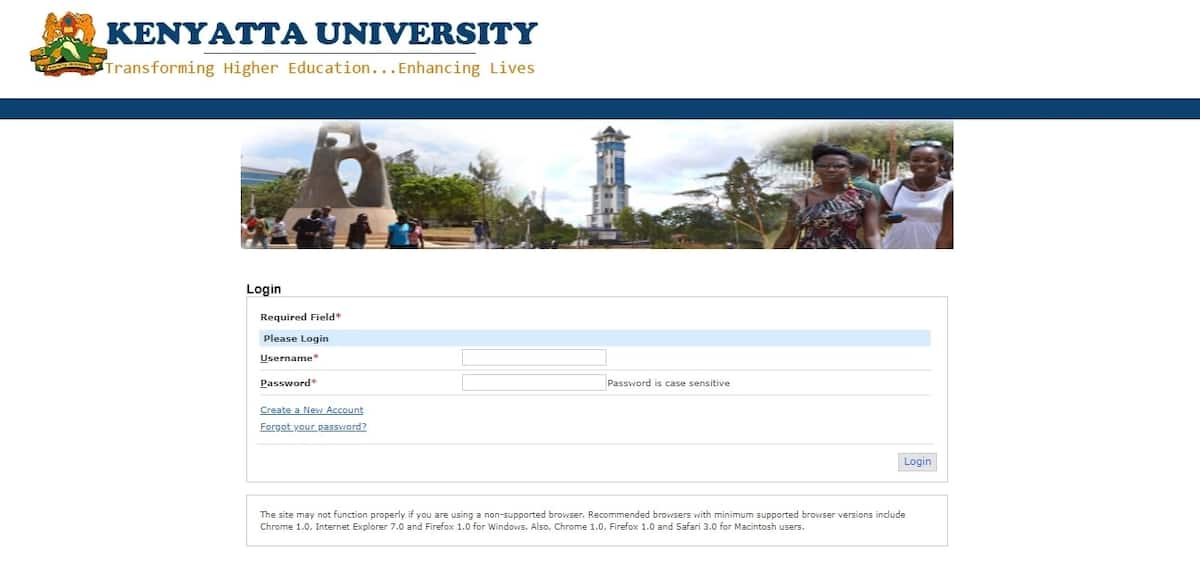 Courses offered at Kenyatta University and their cluster points