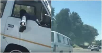 Like a boss! Matatu driver caught on film cruising on a highway - with his leg out of the window