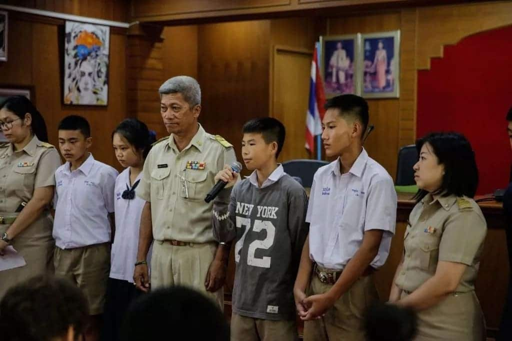 Huge sigh of relief as all 12 Thai boys and coach safely rescued from cave