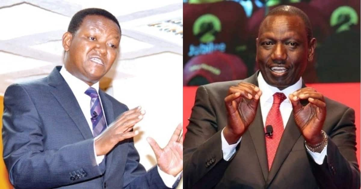 Machakos County Governor Alfred Mutua (L Photo: Alfred Mutua/ Facebook) is confident he will beat DP William Ruto (R) to clinch the presidency in 2022. Photo: William Ruto/ Facebook.