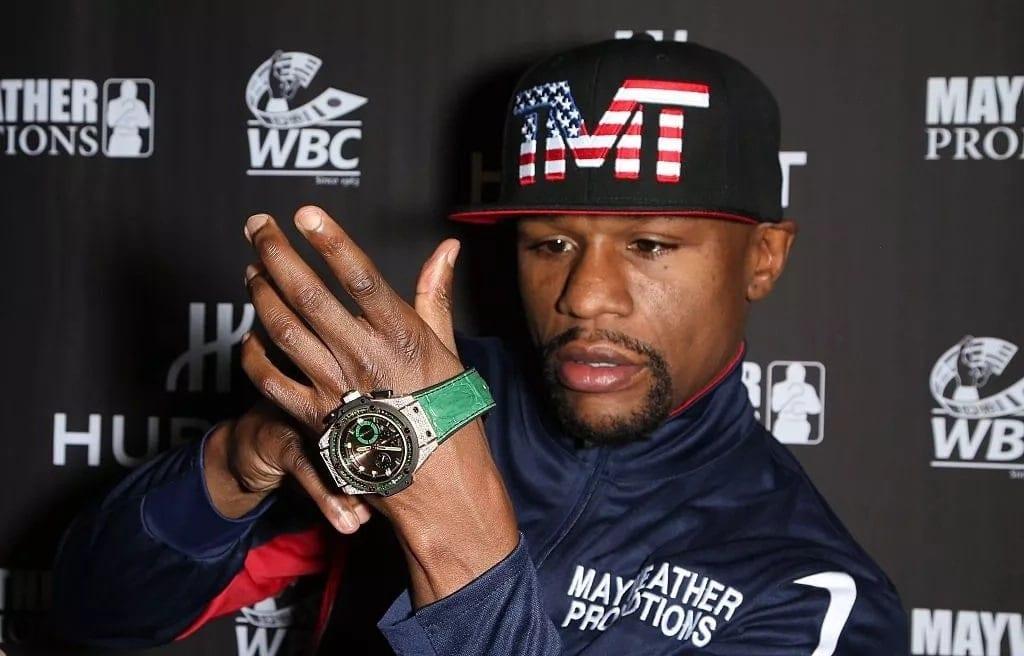 Floyd 'Money-man' Mayweather flaunts his new $18M diamond carat wrist watch