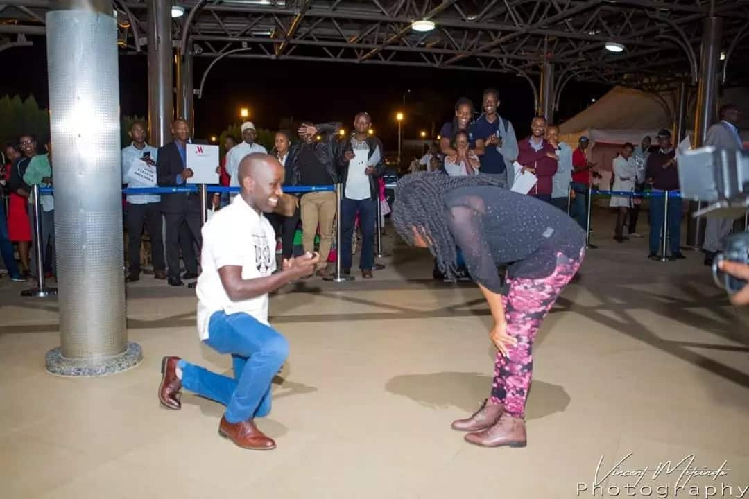 Celebrated NTV anchor Laban Cliff surprises girlfriend with perfect proposal in Rwanda