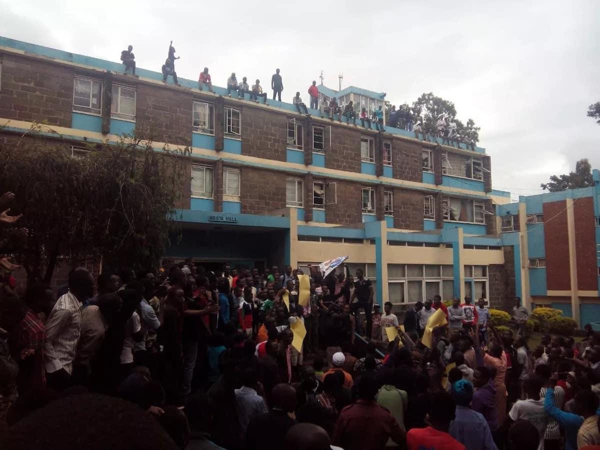 University of Nairobi students on a rampage