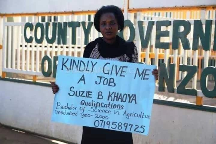 Kitale lady who graduated 17 years ago looking for a job