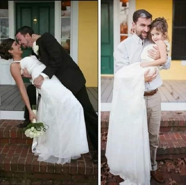 Girl, 4, had a wedding photoshoot while her family looked on in tears