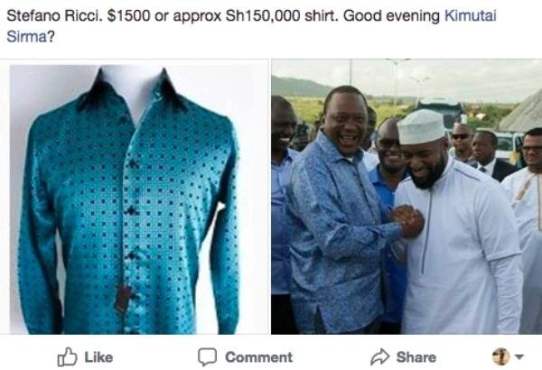Uhuru steps out in a KSh 150,000 shirt on Mombasa tour