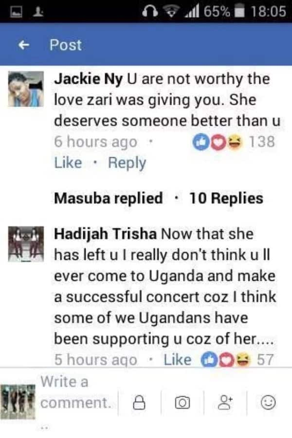 Our daughter had even reduced your big lips -  Ugandans go hard on Diamond after break up with Zari