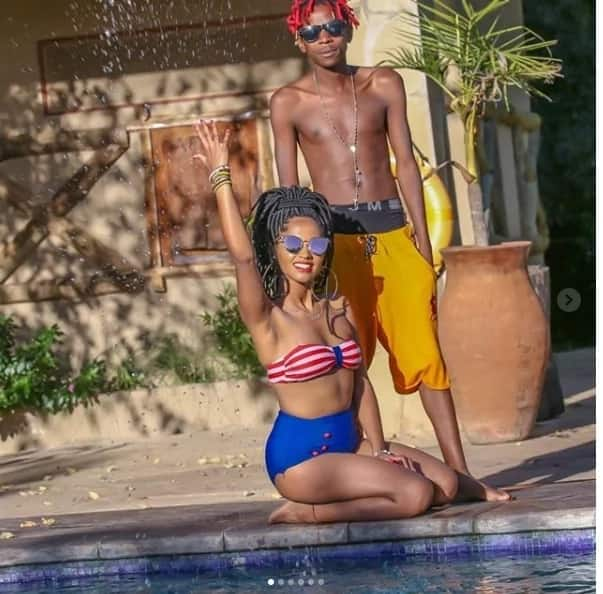 Eric Omondi's Italian bae shows Kenyan men what the comedian enjoys in revealing tight bikini