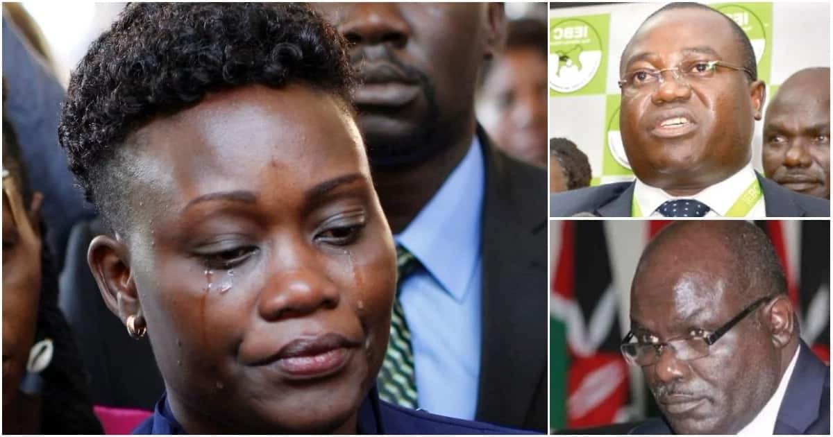 Eva Buyu, wife of the late Chris Msando, has been begging for a job to help her take care of her children. Photo: TUKO.