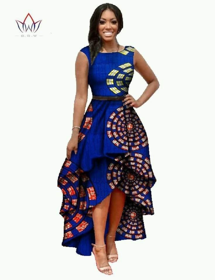 Kitenge long dress designs for ladies