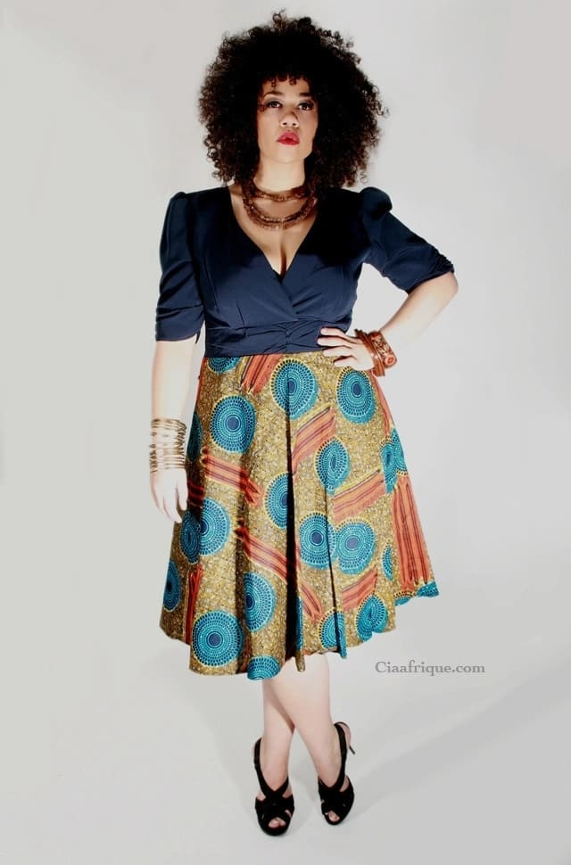 Kitenge skirt and top designs for ladies