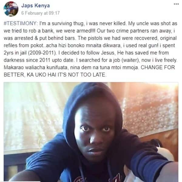 Reformed bank robber melts hearts on social media with shocking confession