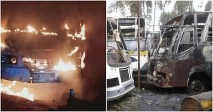 60 people escape death after Migori bound bus bursts into flames in Narok