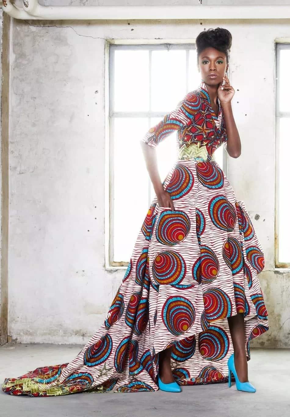 Kitenge wedding gown designs for slim ladies