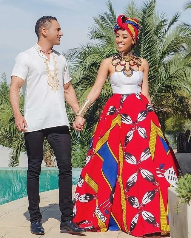 Swaziland Emahiya traditional wedding dress