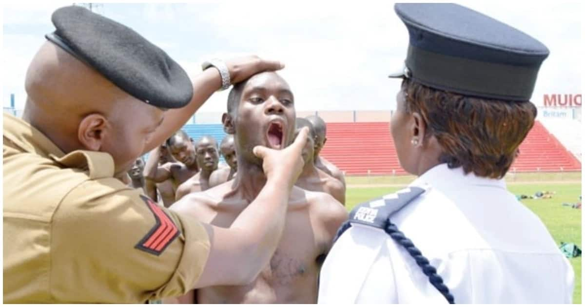 Police recruitment exercise that turned ugly.