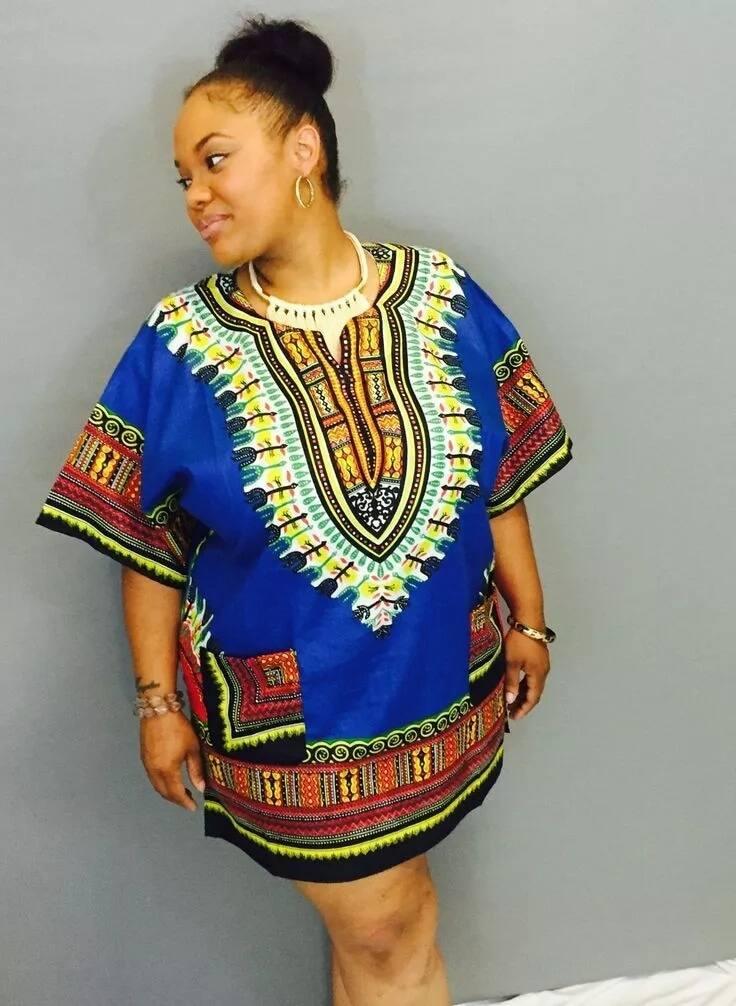 Trending dashiki shirt dress designs 2018