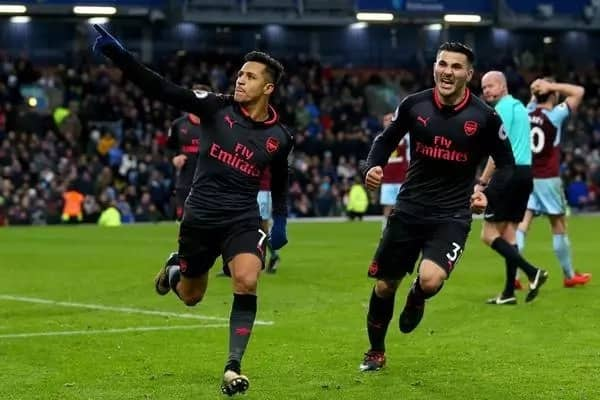 Sanchez steps up as Arsenal edges out stubborn Burnley 1-0 to go fourth on the log