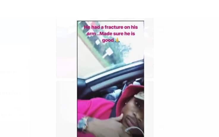 Singer Otile Brown involved in road accident, injures boda-boda rider