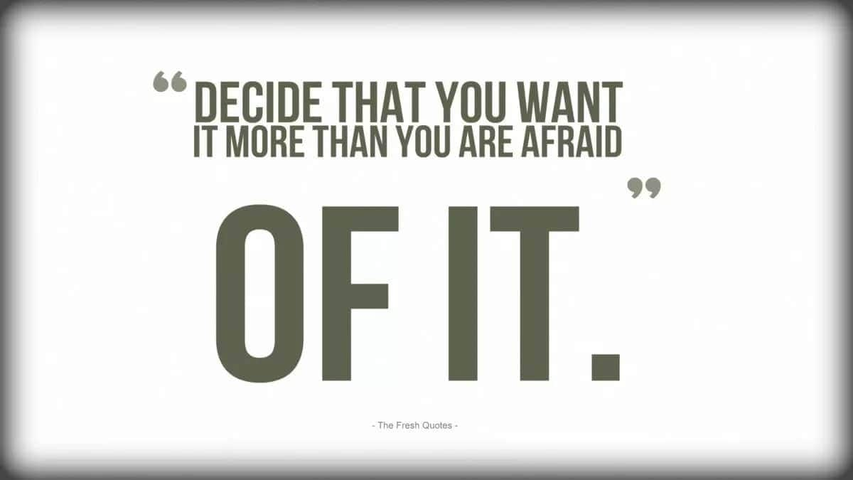 Inspirational fear quotes