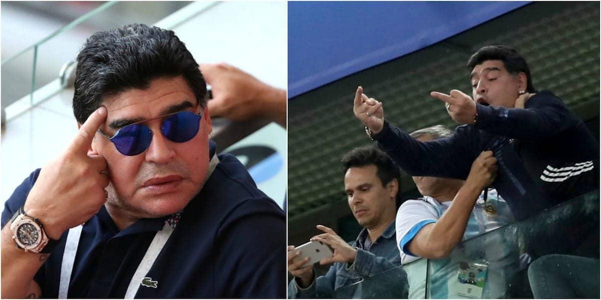 FIFA yamzomea Diego Maradona kwa kukosoa refa wa mechi kati ya Colombia na England