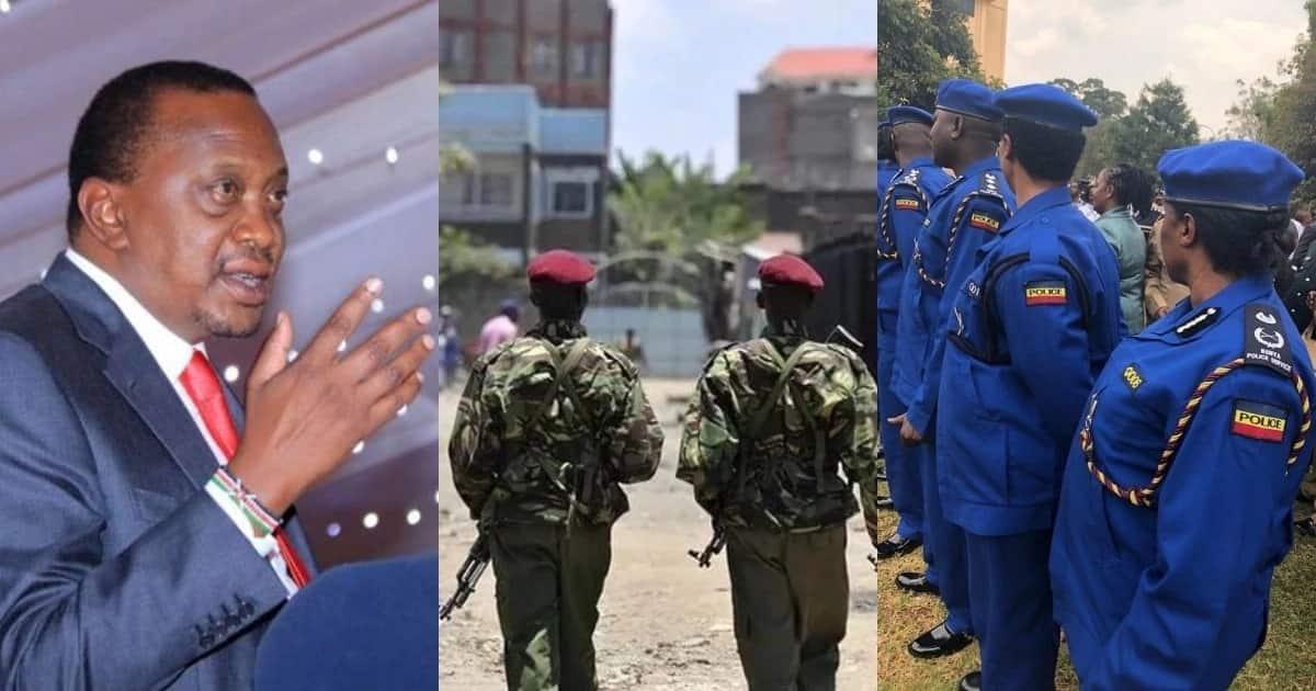 Image result for images of Uhuru Kenyatta with Kenya law enforcement authorities