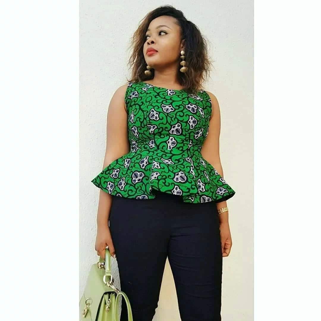 Kitenge blouse designs for ladies