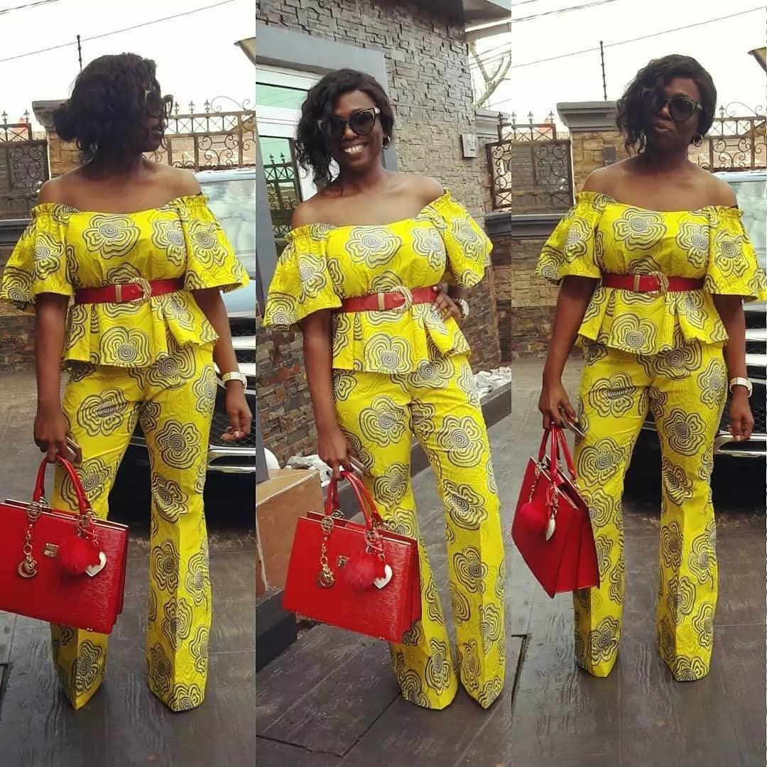 Kitenge tops and pants designs