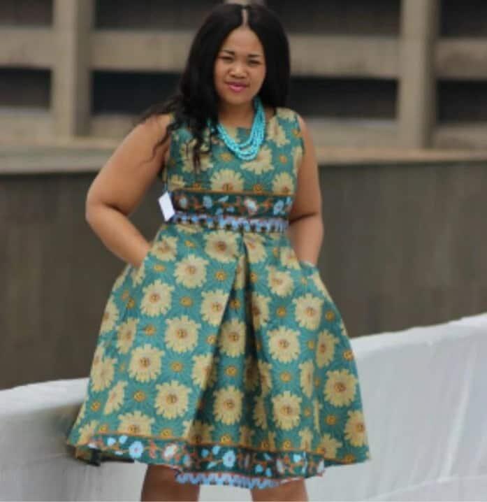 Kitenge dress designs for plus size ladies