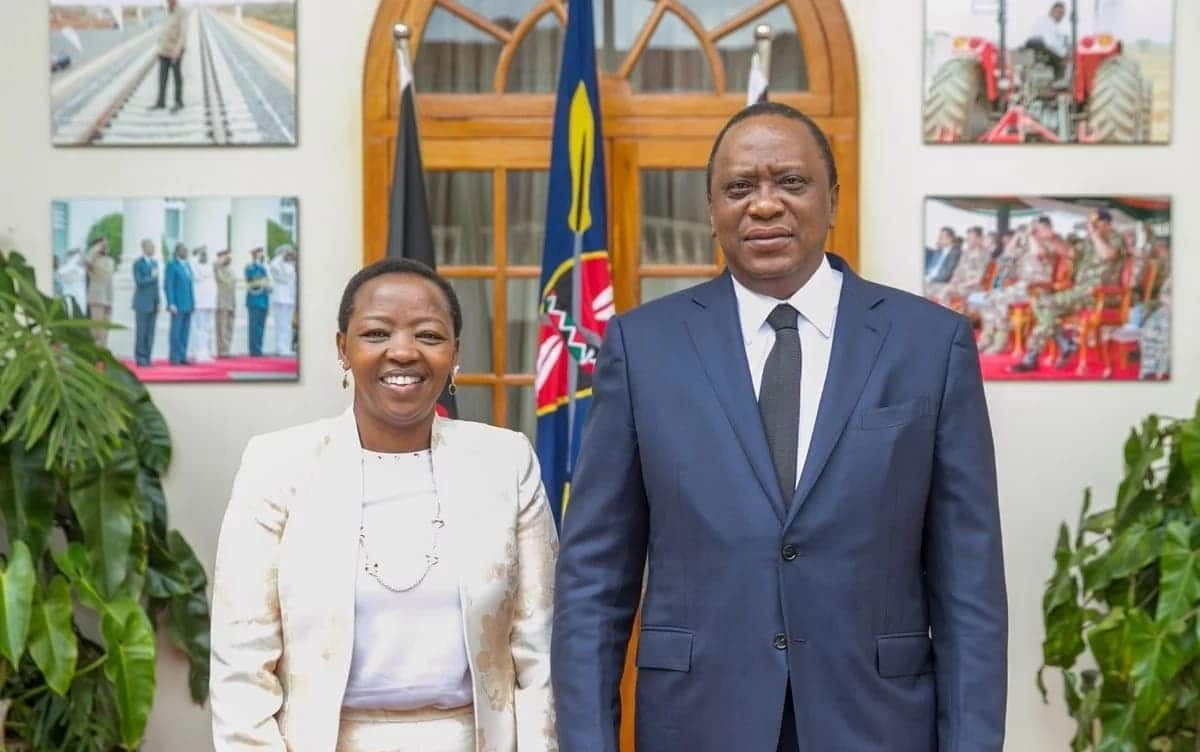 Uhuru meets William Ruto's wife at State House Nairobi