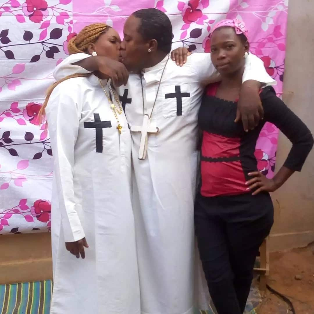 Tanzania's self-styled prophet pictured kissing wife and house girl deemed mentally ill