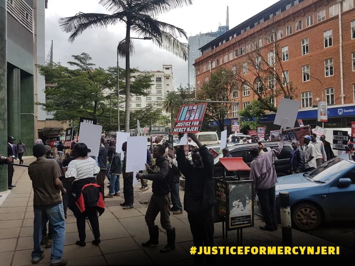Protest held in Nairobi against collapse of pastor Ng'ang'a's case of death through dangerous driving