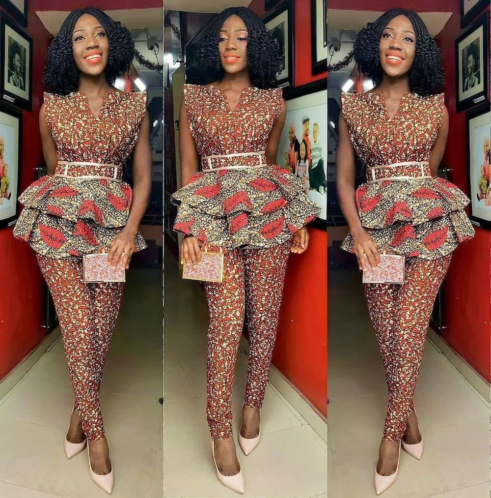 Kitenge designs - peplum blouse