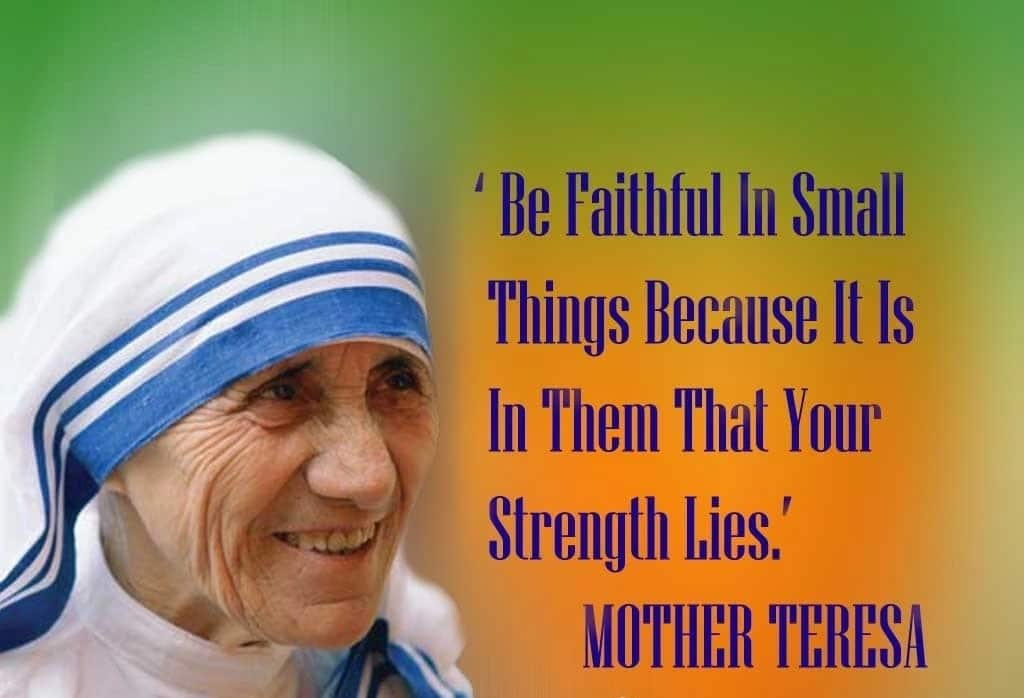 Mother Teresa quotes on thankful