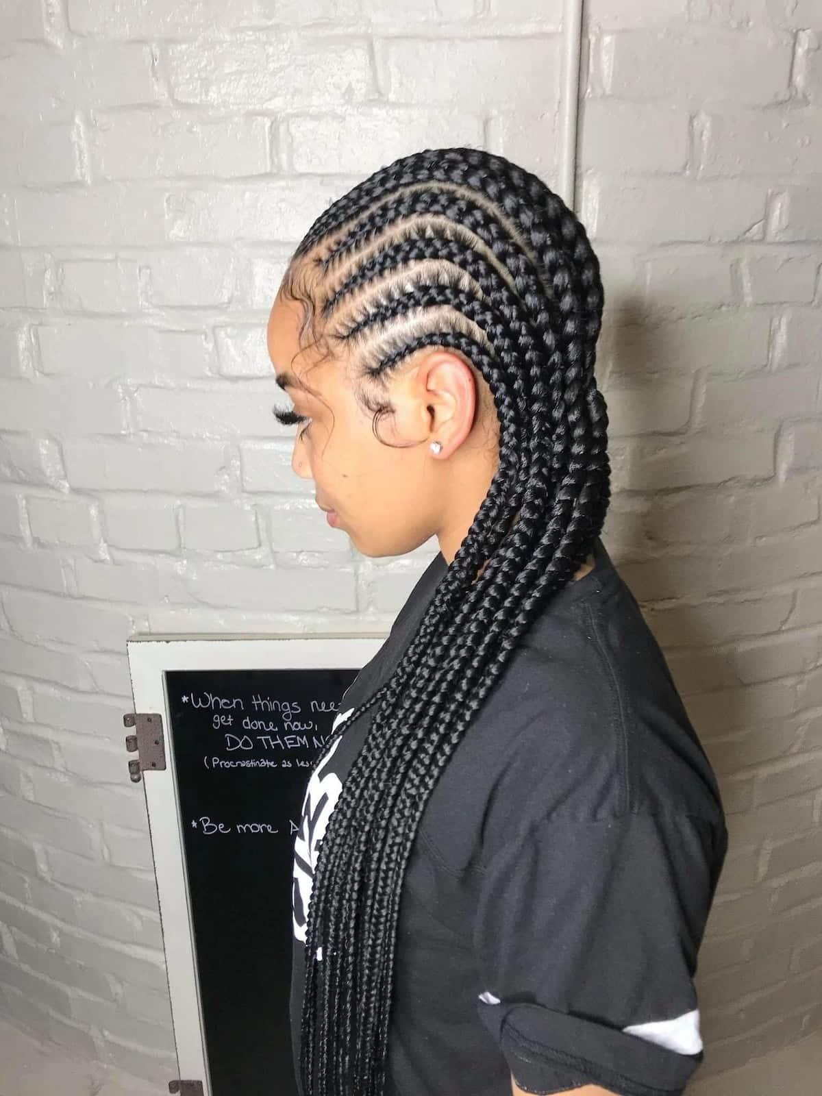 Latest Nigerian cornrow hairstyles Tuko.co.ke