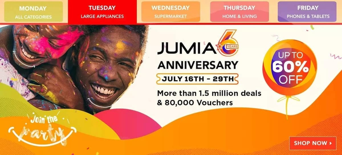 Jumia anniversary deals and offers