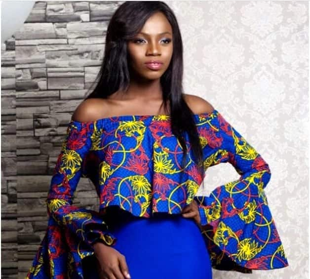 ankara tops styles - ankara tops for ladies - off the shoulder african top - latest off shoulder tops