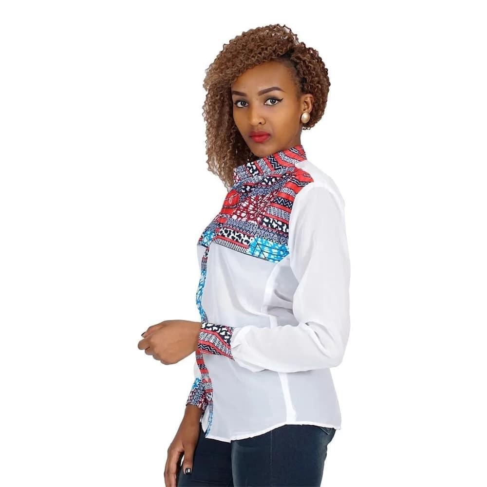 Kitenge shirt designs for slim ladies