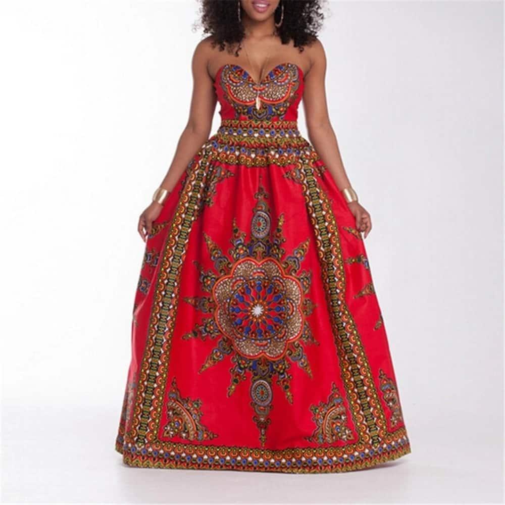 Kitenge designs for long dresses - maxi