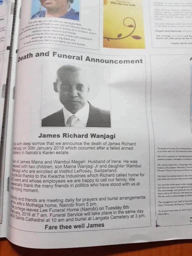 Jimmy Wanjigi aishtaki Nation Media Group kwa kuchapisha tangazo la 'kifo' chake