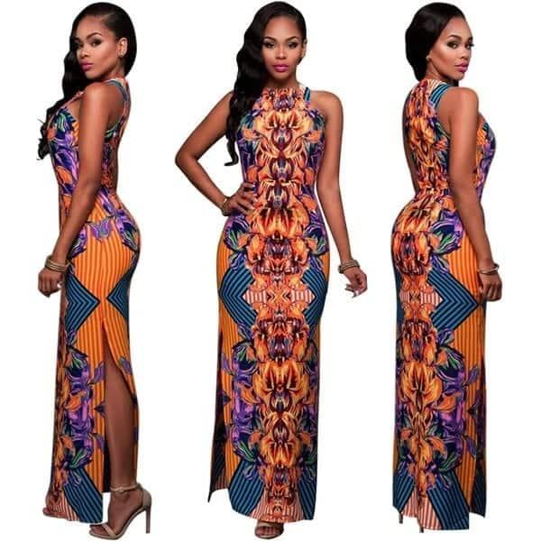 Modern African print dresses 2018,african print dresses, modern african print dresses